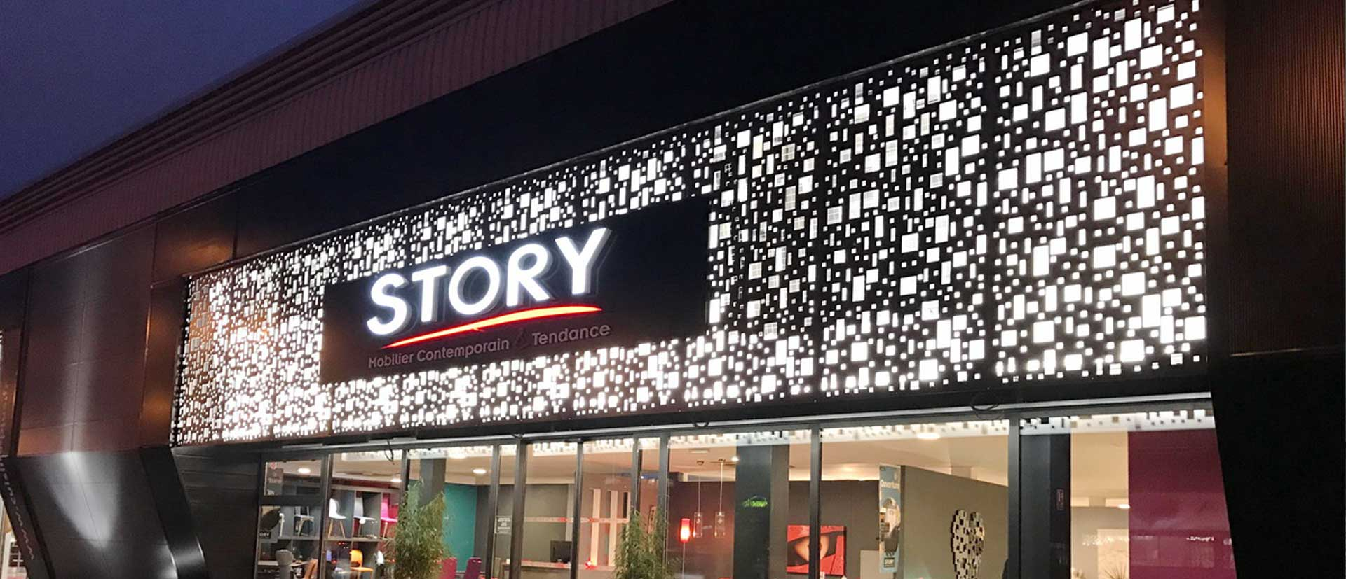 trouver un magasin story - story