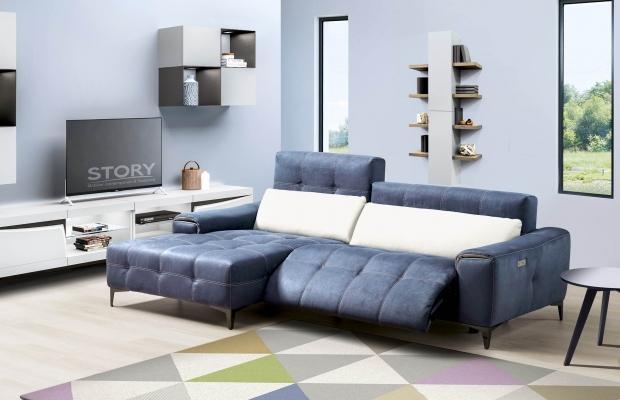 Ce canapé relaxation capitonné en cuir, tissu ou microfibre est disponible dans plusieurs configuration (angle, 2 places, 3 places, fauteuil ...)