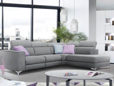 Canapé relaxation tissu, qui existe en différentes configurations. Il est doté d'un grand confort grâce à son garnissage en pro-gel