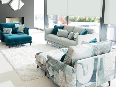 Le canapé en tissu scandinave, avec ses lignes légères et son design simple offre un style moderne et intemporel