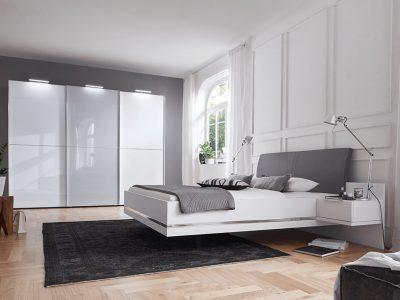 Chambre personnalisable STORY laqué blanc