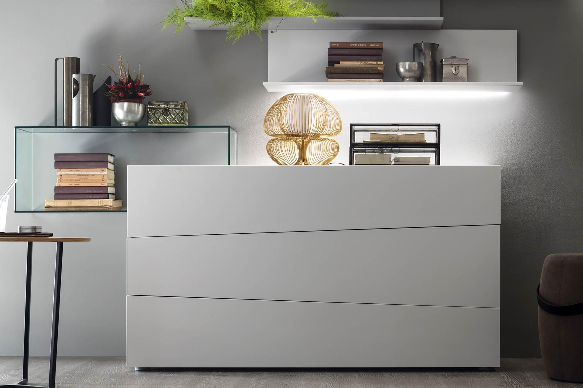 commode laqu e 3 tiroirs story. Black Bedroom Furniture Sets. Home Design Ideas