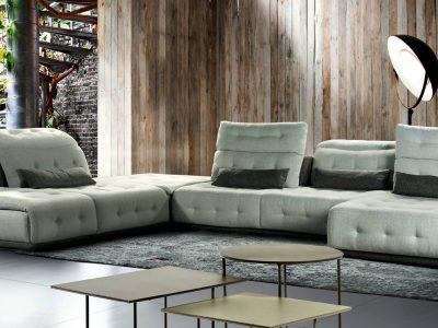 Le salon modulable couetté, avec ses dossiers avance recule et son incroyable confort, est idéal pour apporter un côté cocooning à votre intérieur.