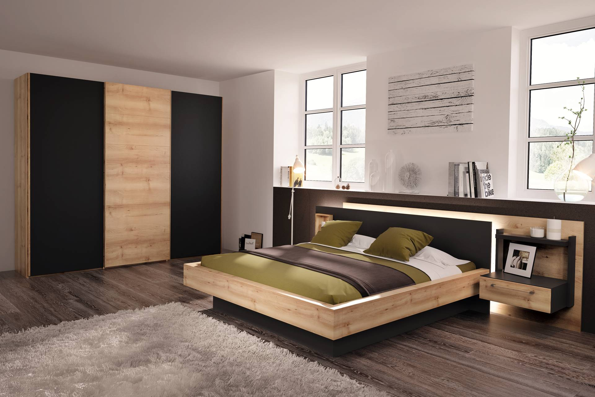 chambre avec dressing portes battantes ou coulissantes story. Black Bedroom Furniture Sets. Home Design Ideas