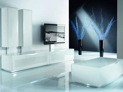 Ce meuble TV verre laqué apportera un aspect contemporain à votre pièce. Il est conçu spécialement pour vos appareils multimédias