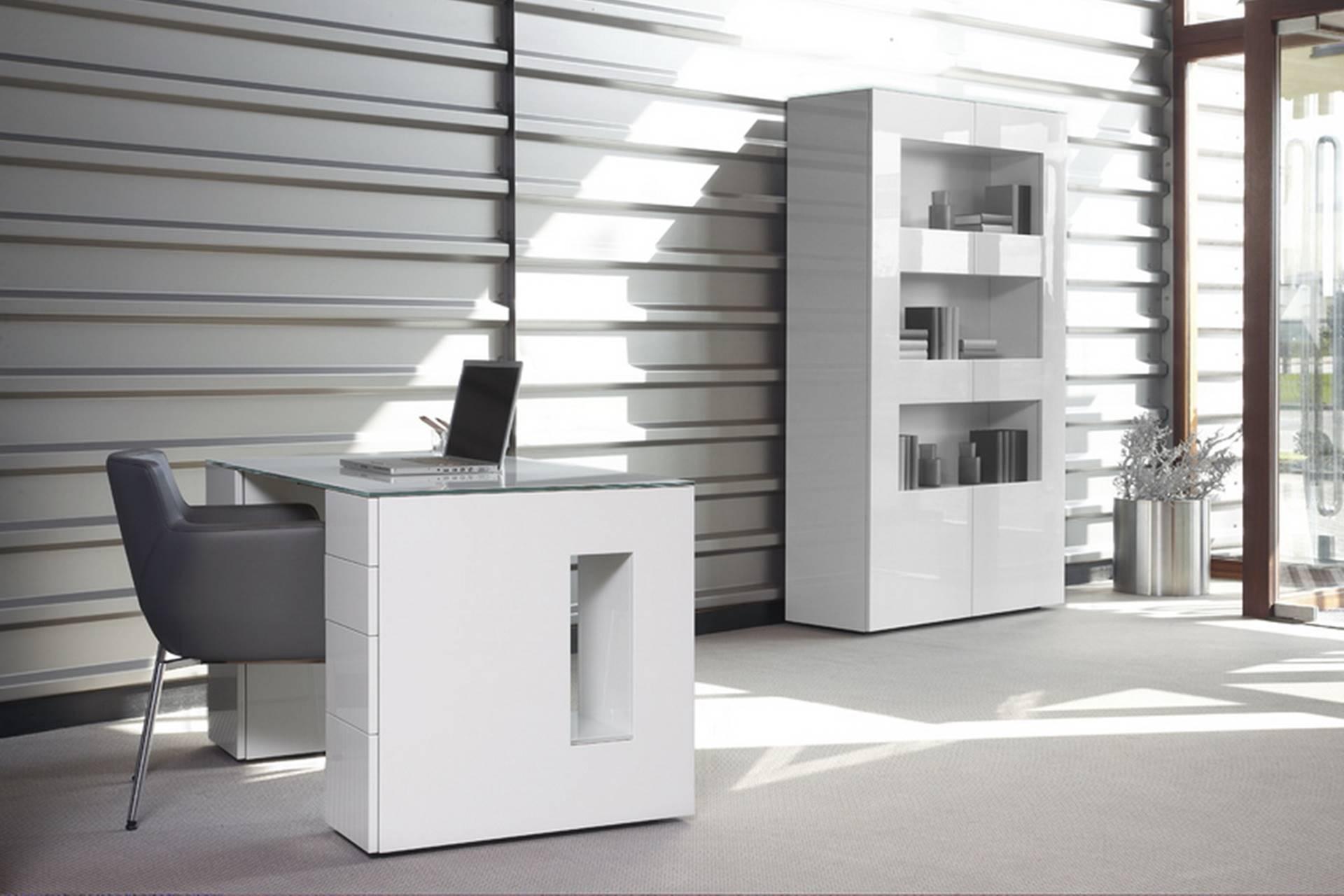 meubles bureaux blanc vitrine laque story. Black Bedroom Furniture Sets. Home Design Ideas