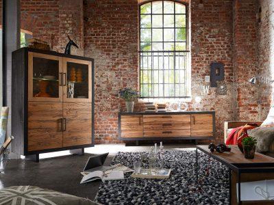 Ce séjour chêne rustique style industriel apporte un coté chaleureux à votre intérieur