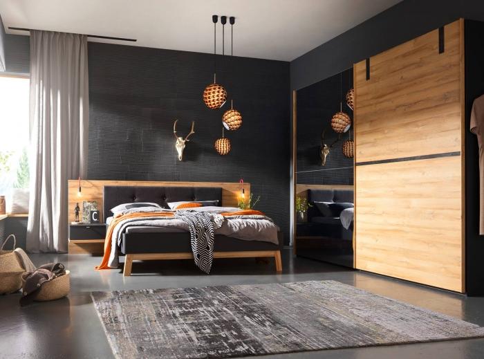 Chambre laque et bois