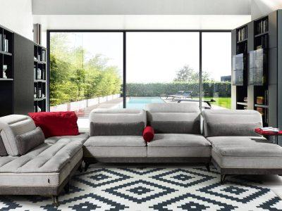 Ce canapé modulable avec avance recule offre un très grand choix de configurations. Vous pourrez ainsi combiner chaque élément à votre convenance pour rendre votre salon unique.