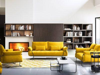 Ce canapé, au design raffiné grâce à son capitonnage en cuir ou tissu et sa structure métallique apparente, apportera à votre intérieur un style contemporain et industriel.