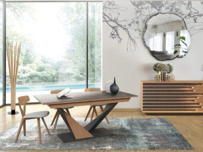 Séjour tendance bois et céramique avec éclairage LED - STORY