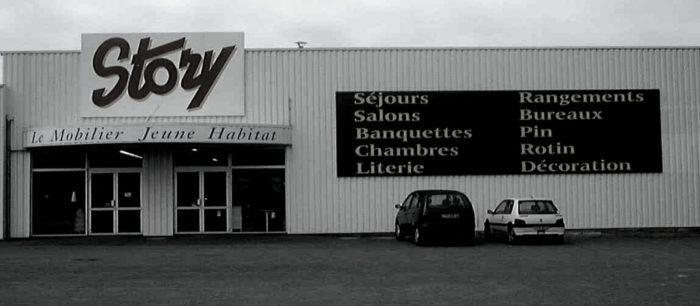 Ancienne façades magasin meuble STORY 1990