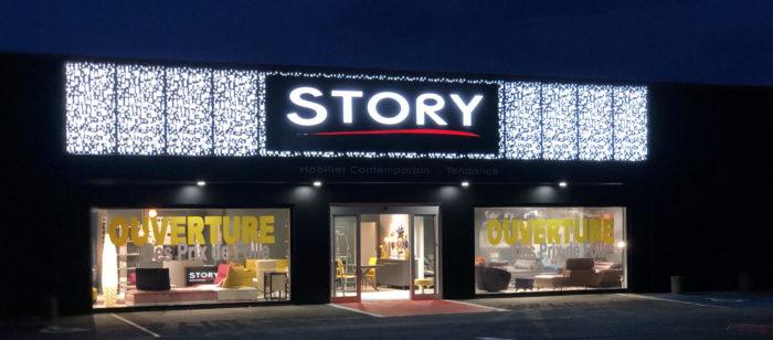 Façade STORY Strasbourg mobilier contemporain et tendance