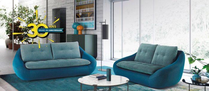 Canapé galbé - STORY mobilier contemporain et tendance