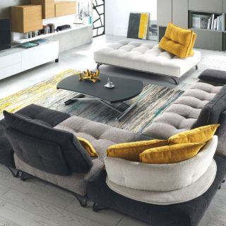 Canapé modulable contemporain sur pied STORY