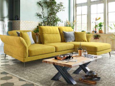 Canapé avec têtiere et accoudoirs relevables - STORY