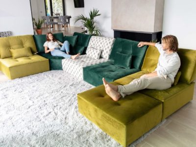 Canapé modulable tissu coloré - STORY Mobilier contemporain et tendance