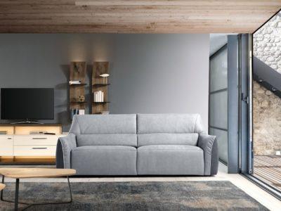 Canapé relaxation électrique cuir ou tissu - STORY